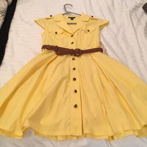 BCX Yellow Shirt Dress